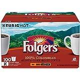Folgers 100% Colombian Medium Dark Roast Coffee 100 K-Cups ZJXhL( Pack of 1 )