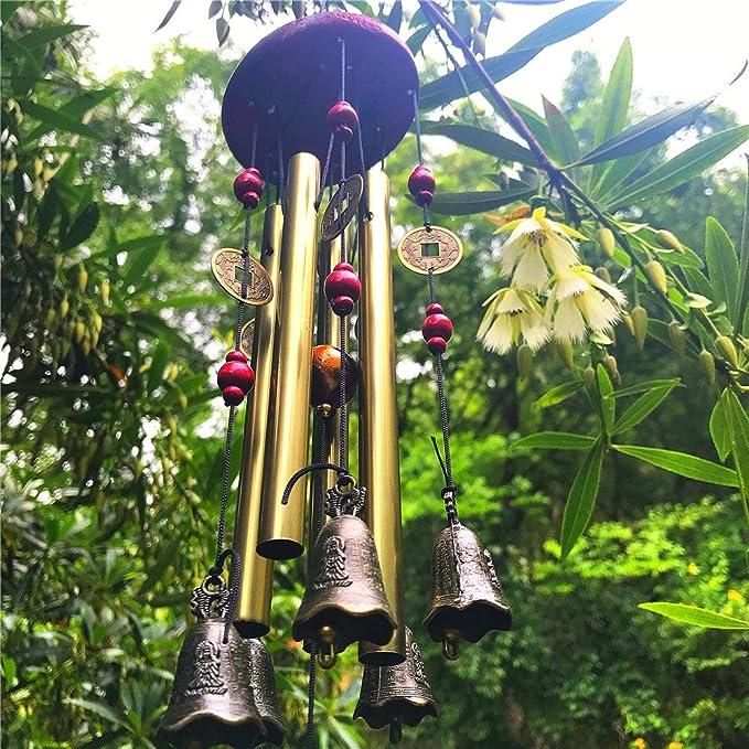 1 opinioni per Campane del vento con campane di vento di bronzo del bronzo I tubi stupefacenti