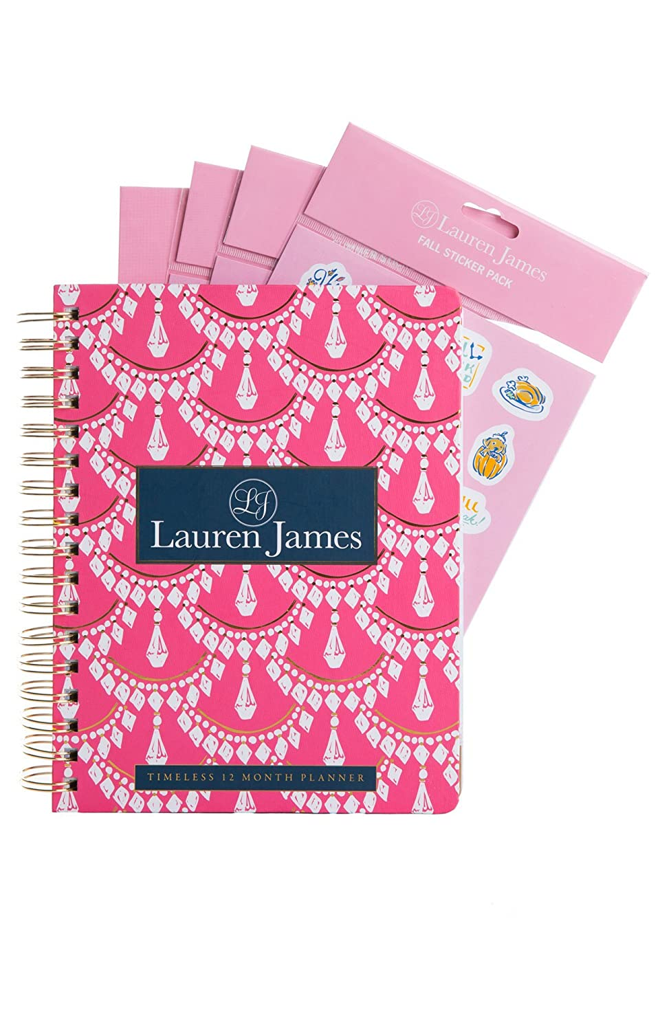 Amazon timeless planner seasonal stickers by lauren james amazon timeless planner seasonal stickers by lauren james womens fashion designer inspired year round daily organizer chandelier print office arubaitofo Image collections