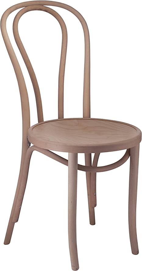 Amazon Com Bentwood 1018 Hairpin Side Chair Handcrafted Wooden Michael Thonet Chair With A Beechwood Frame Rustic Indoor Furniture Decor For Kitchen Dining Bedroom Bistro Vanity Unfinished Set Of 2 Chairs