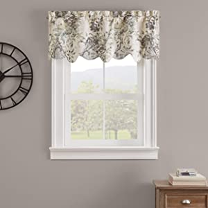 Waverly Kensington Bloom Short Valance Small Window Curtains Bathroom, Living Room and Kitchens, 52