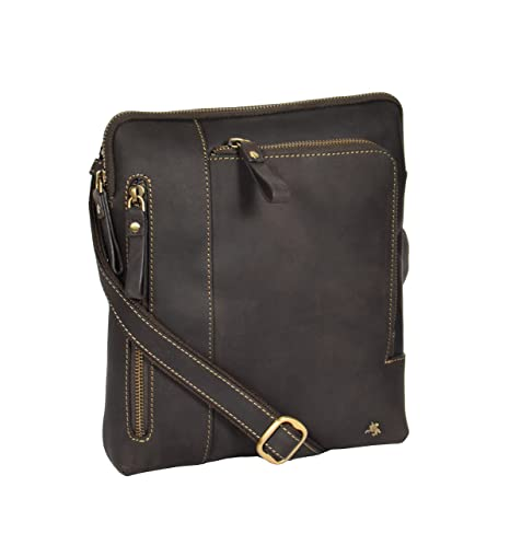 Review Unisex Messenger Leather Bag