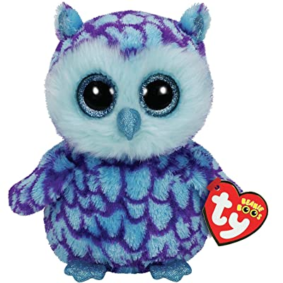 TY Beanie Boo Plush - Oscar the Owl 15cm: Toys & Games