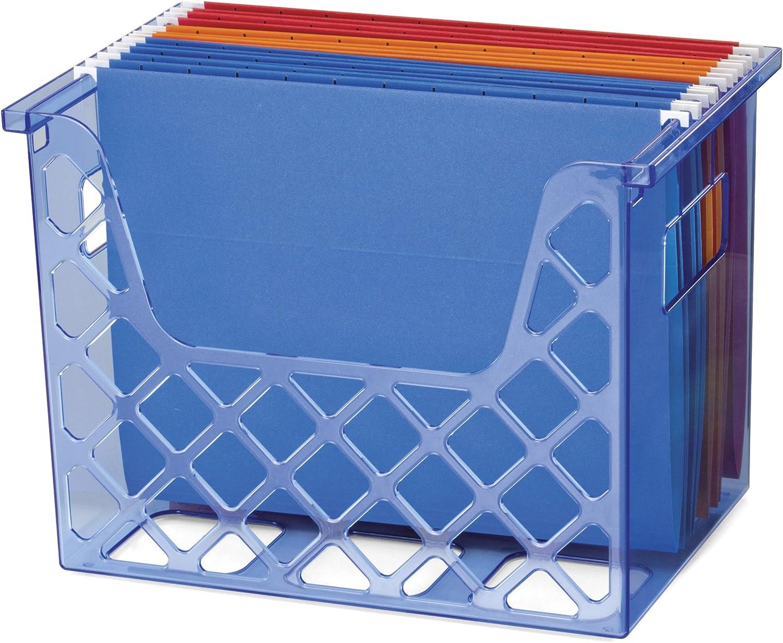 Officemate OIC Blue Glacier Desktop File Organizer, Transparent Blue (23221)