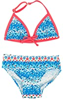 Floatimini Little Girls' Flower Petal Border Print Bikini Set