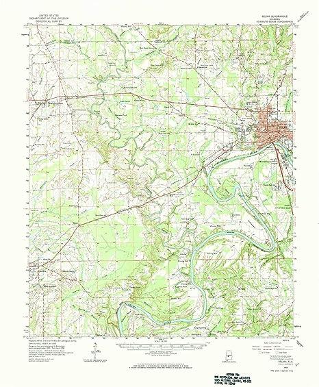 Amazon.com: YellowMaps Selma AL topo map, 1:62500 Scale, 15 ...