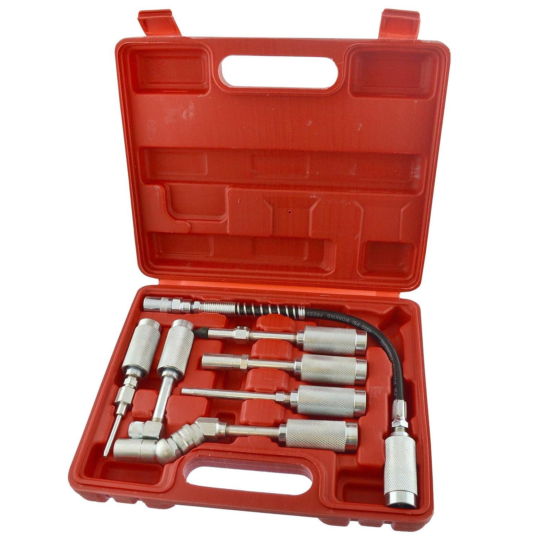 AB Tools-Neilsen Pumpe für manuelle Fett Kit schmiermittel Schmiermittel Zubehör Kit Schmiermittel flexibel 7PC EIN024