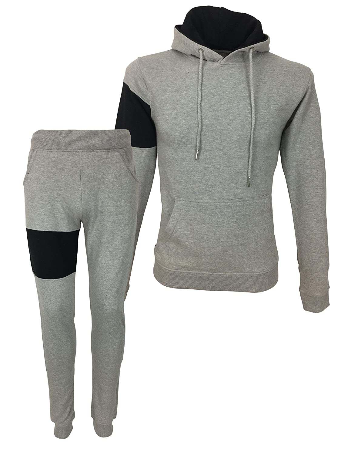 King Kouture Herren Trainingsanzug grau grau Small