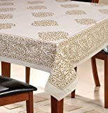 Urbano Homz 6 Seater Paisley Beige Dining Table Cover 100% Cotton, 145 cm X 220 cm