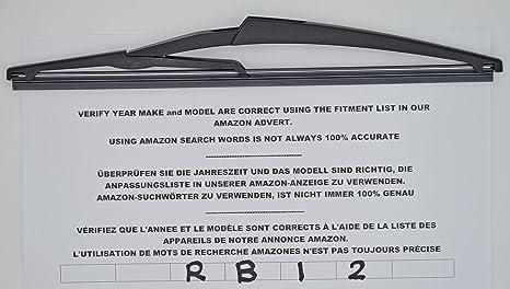 Limpiaparabrisas trasero de 30 cm RB12