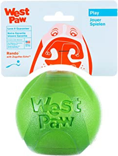 product image for West Paw Rando Squeezy Dog Play Chew Ball Toy with Zogoflex Echo, Made in USA