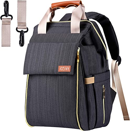 Amazon.com: Bolsa de pañales, mochila para bebé con ...