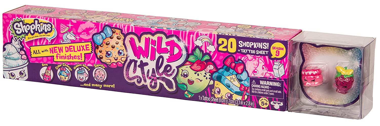 Shopkins Wild Style | 20 Toys plus Tattoo Sheet for Kids ...