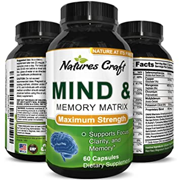 Amazon Com Mind And Memory Enhancement Pills With Green Tea Dmae