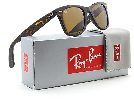 a82889da66 Ray-Ban RB2140 Original Wayfarer Classic Polarized Sunglasses 902 57 -  50mm  Amazon.co.uk  Clothing