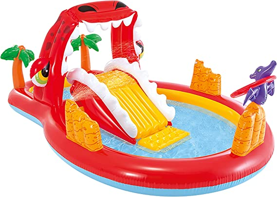 Intex 57160NP - Centro de juegos agua Happy Dino: Amazon.es ...