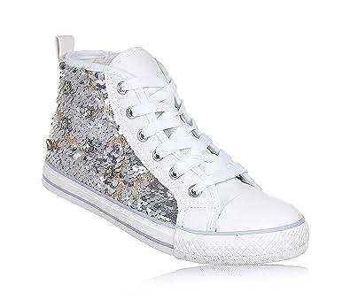 nuova collezione 1f1cf 9e41c Twin Set Bambina, HS88GA, Scarpe Sneakers Tessuto Bianco ...