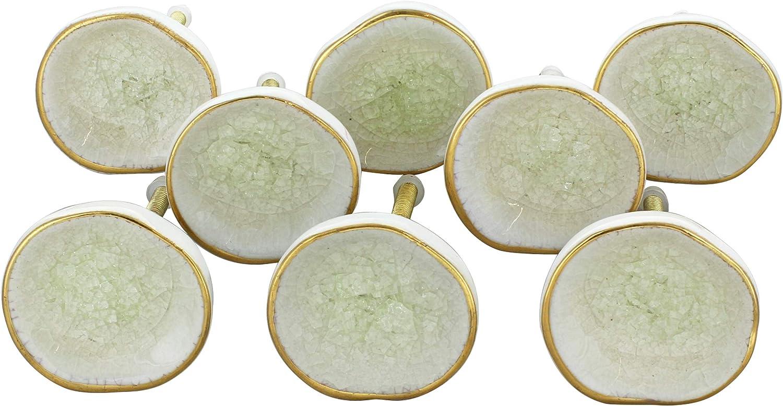 G Decor T/ürknauf aus Keramik cremefarben Shabby-Chic-Stil