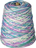 Lily Sugar 'N Cream Yarn, 14 Ounce Cone, Beach Ball Blue, Single Ball