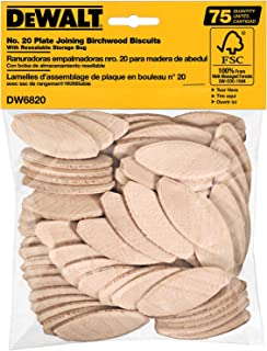 product image for DEWALT Joiner Biscuits, No. 20 Size, 75-Piece (DW6820)