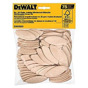 DEWALT DW6820 No. 20 Size Joining Biscuits (75 Pieces)