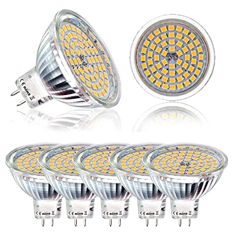 Lote de 6 Bombilla LED MR16 GU5.3, Bay 5 W equivalent 50 W
