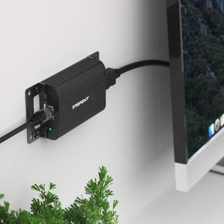 164 Feet // 50 Meters DA-HDEX Sabrent 1080P 3D HDMI Extender Over CAT6