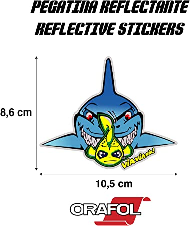 Sticker Sticker Sticker Stickers Autocollants Valentino Rossi Shark Reflective Motorcycle Car Vinyl High Quality 1 Units Auto