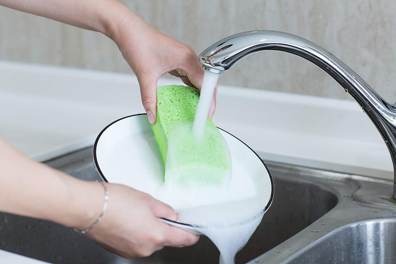 Green Multi-Use Heavy Duty Scrunge Scrub Cleaning Sponge Pot Scrubber Pack of 6