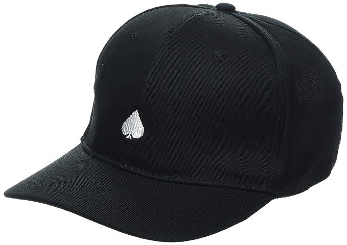 New Look Spade Embroidery, Gorra de Béisbol para Hombre, Negro (Black), Talla única (Talla del Fabricante: 99)
