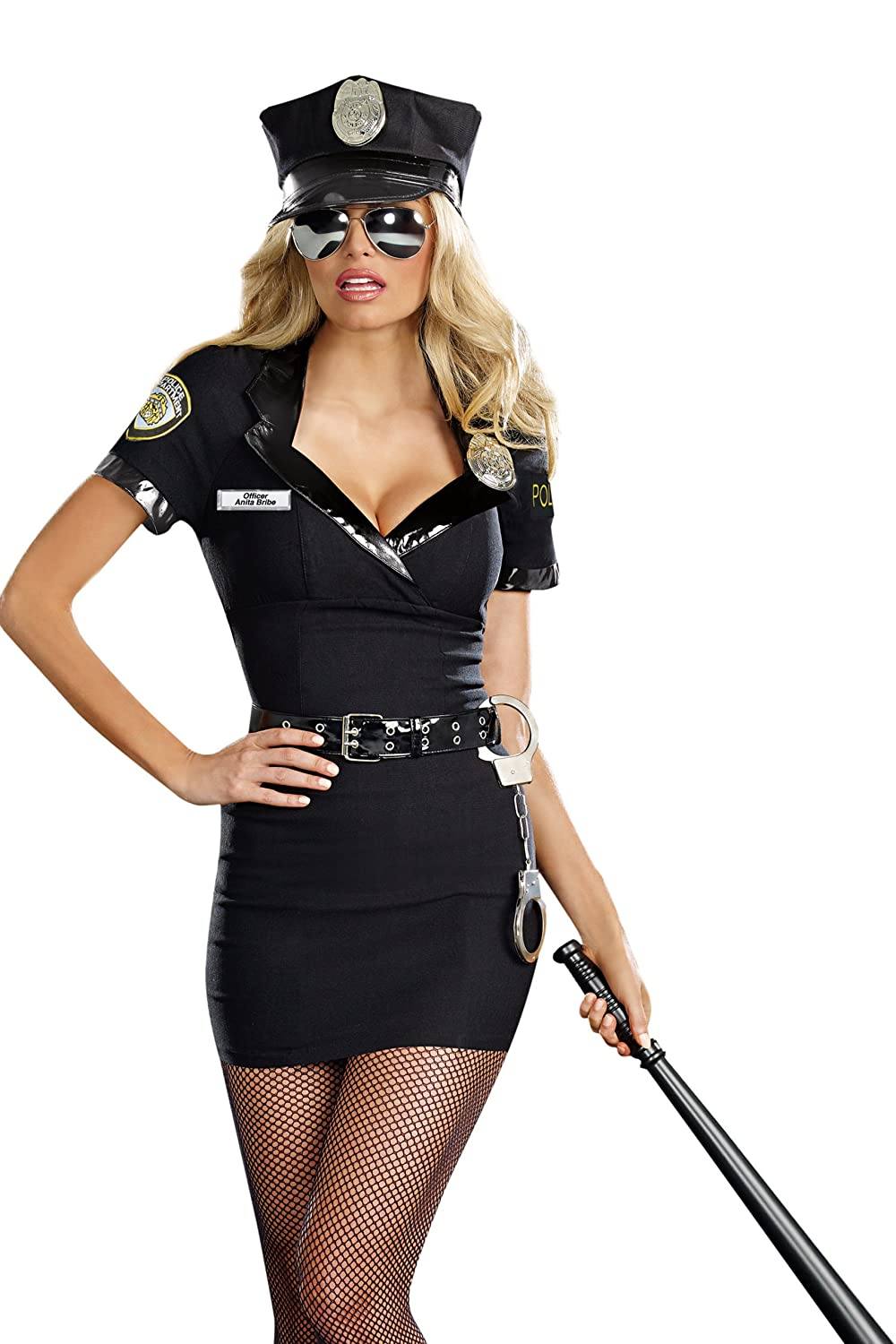 Amazon.com: Dreamgirl Women\'s Dirty Cop Officer Anita Bribe ...