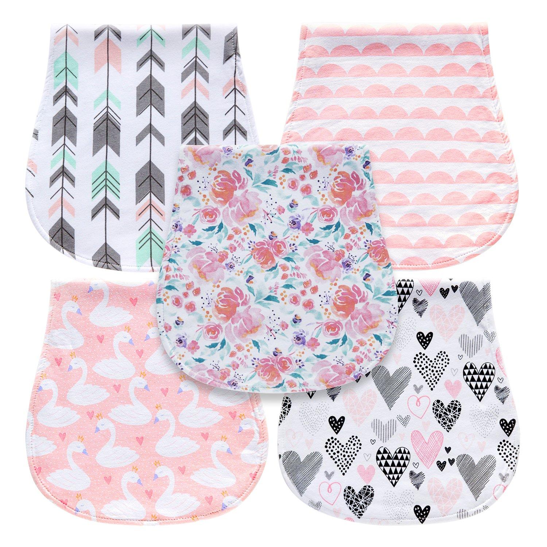 Wash Cloths As Burp Cloths: Amazon.com: 5-Pack Baby Burp Cloths For Girls, 100