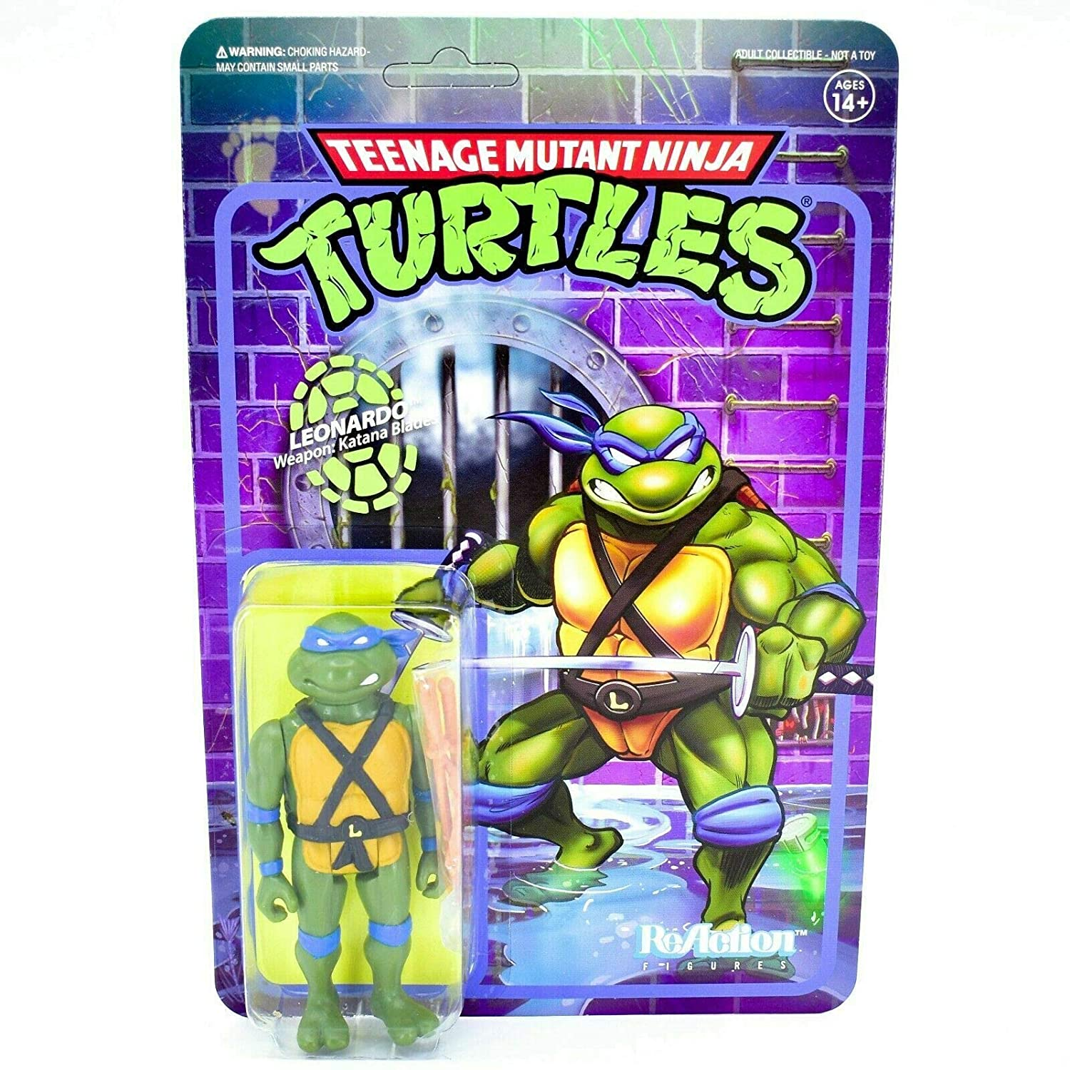 Super7 Leonardo TMNT Teenage Mutant Ninja Turtles Reaction Action Figure