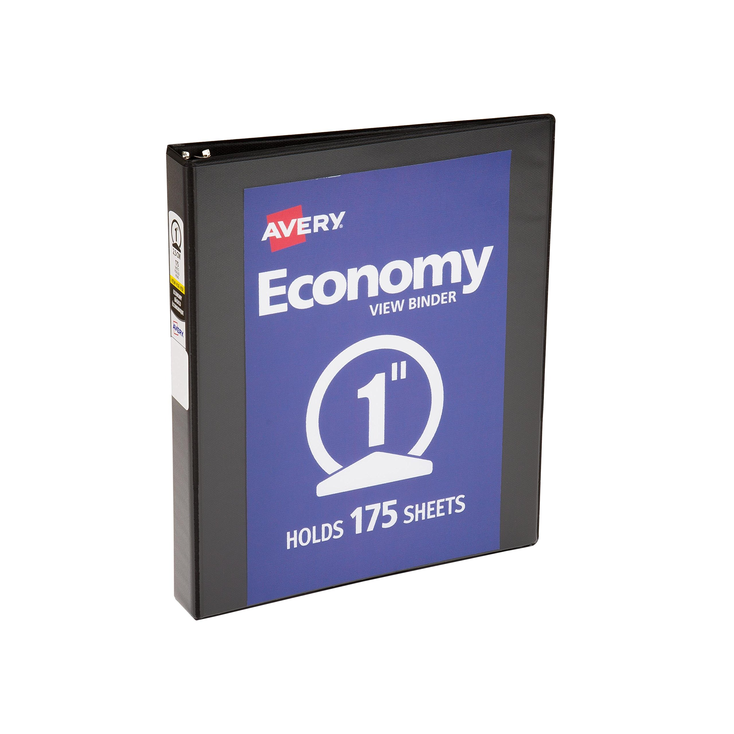 Avery Economy View Binder with 1 Inch Round Ring, Black (5761)