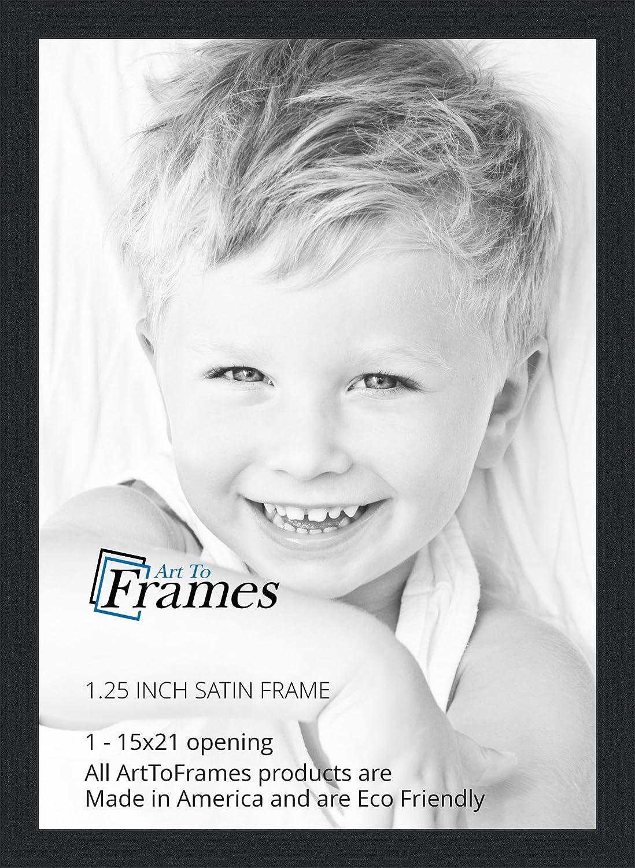 Amazon.com - ArtToFrames 15x21 inch Satin Black Picture Frame ...