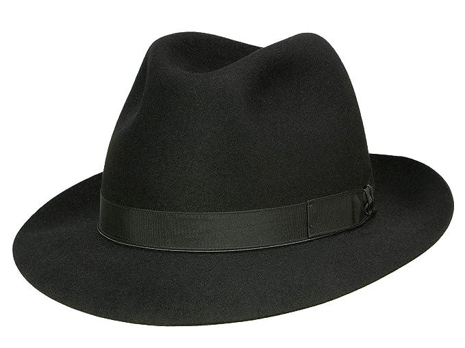 dc8f3930544e8 Borsalino Art. 114901 - Sombrero Fedora para hombre - negro  Amazon.es   Ropa y accesorios