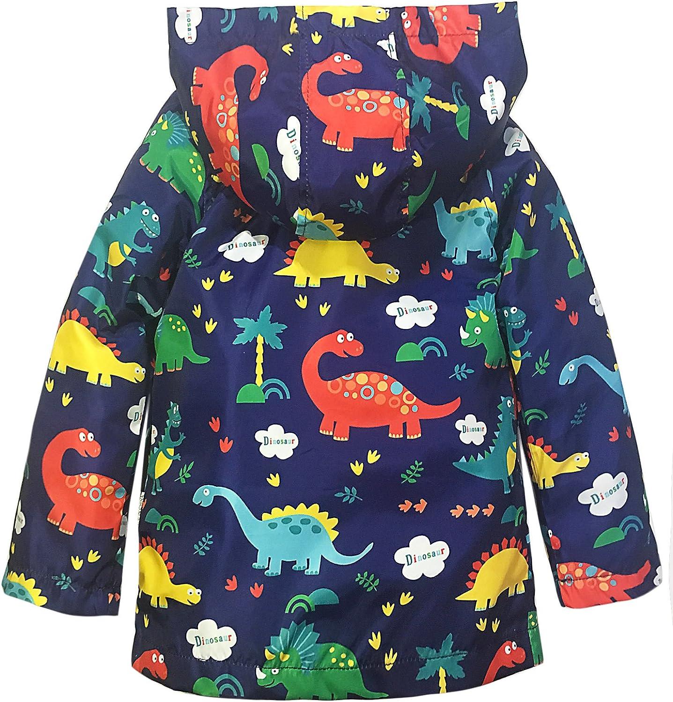 YNIQ Boys Dinosaur Print Raincoats