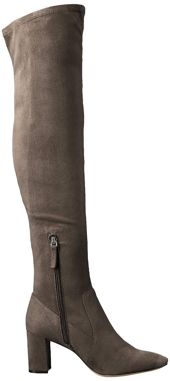 Nine West Women's Xperian B06XHB4Z7F 7 B(M) US|Dark Grey Stretch Suede Fabric