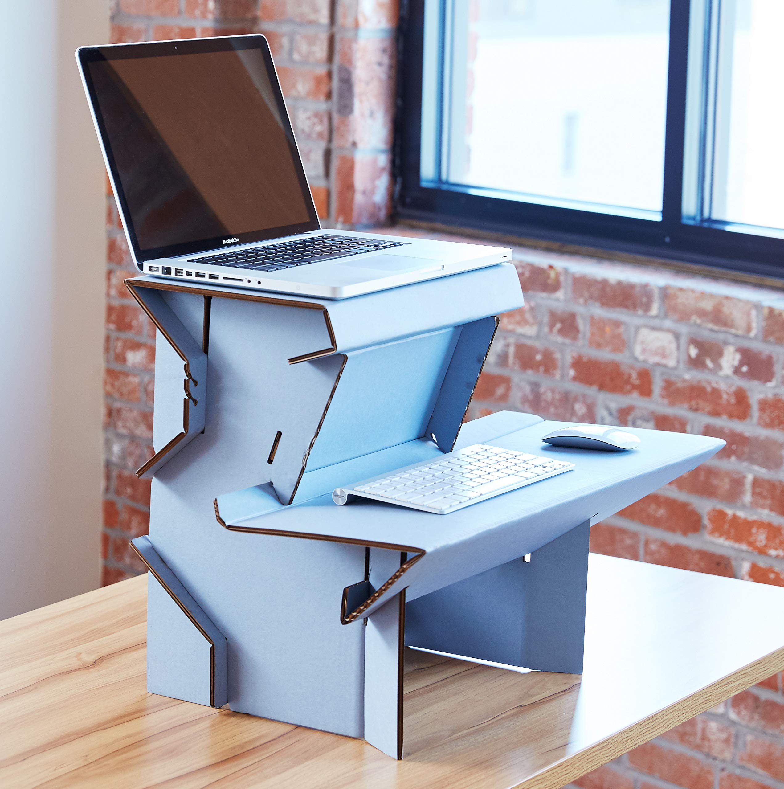 Spark by Ergodriven | 26'' Standing Desk in 3 Height Sizes | Sit Stand Converter - Desktop Riser - Platform for Monitor - Laptop Workstation - Medium