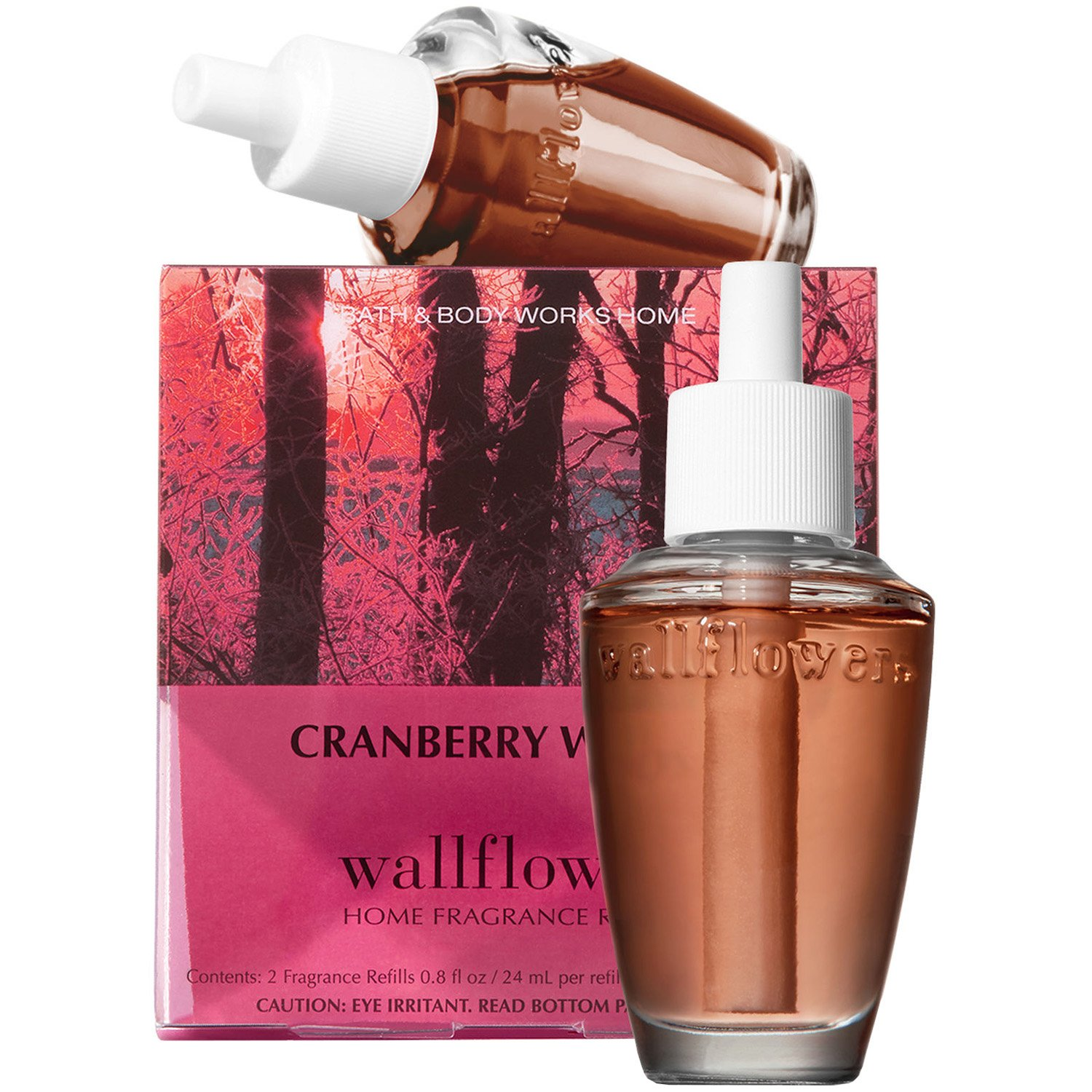Bath and Body Works New Look! Cranberry Woods Wallflowers 2-Pack Refills