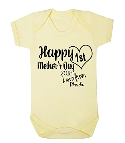 Personalised happy 1st mothers day love from baby vest romper personalised happy 1st mothers day love from baby vest romper baby gifts newborn gifts 2018 babywear negle Choice Image