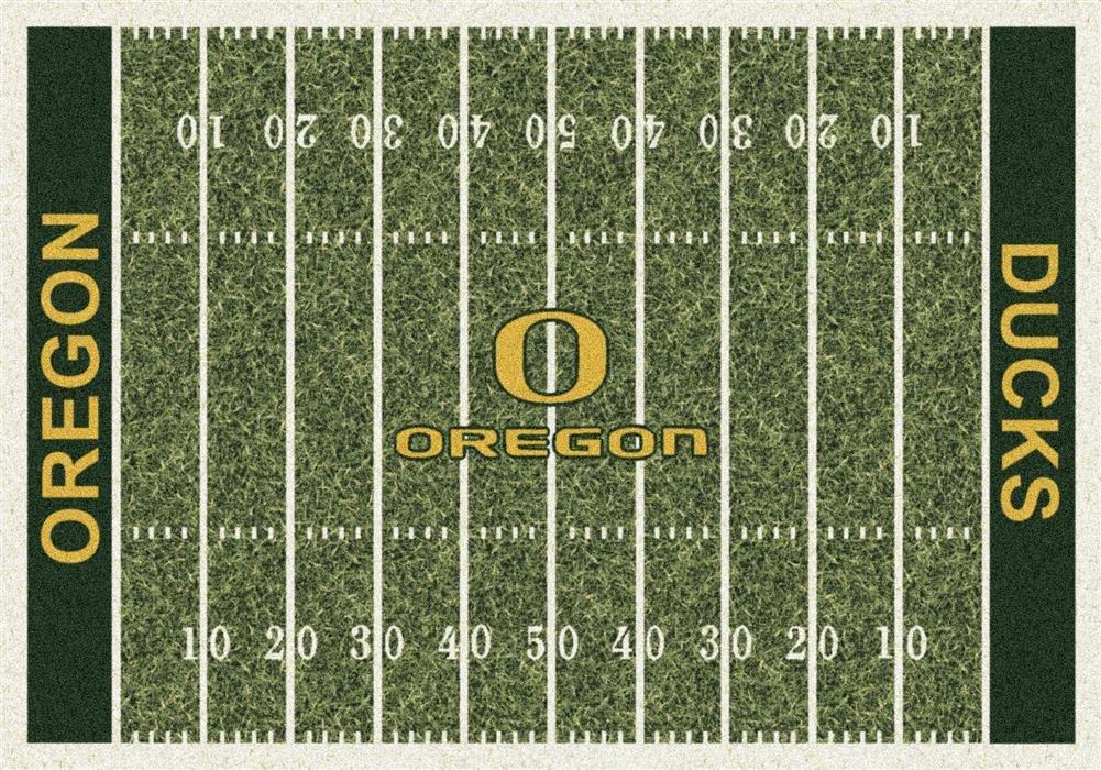 Milliken 4000018575 Oregon College Home Field Area Rug, 5'4'' x 7'8''