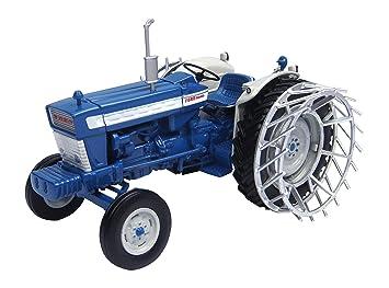 Universal Hobbies Ford 5000 Tractor con Las Ruedas de la Jaula: Amazon.es: Juguetes y juegos