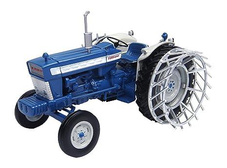 Universal Hobbies Ford 5000 Tractor con Las Ruedas de la Jaula