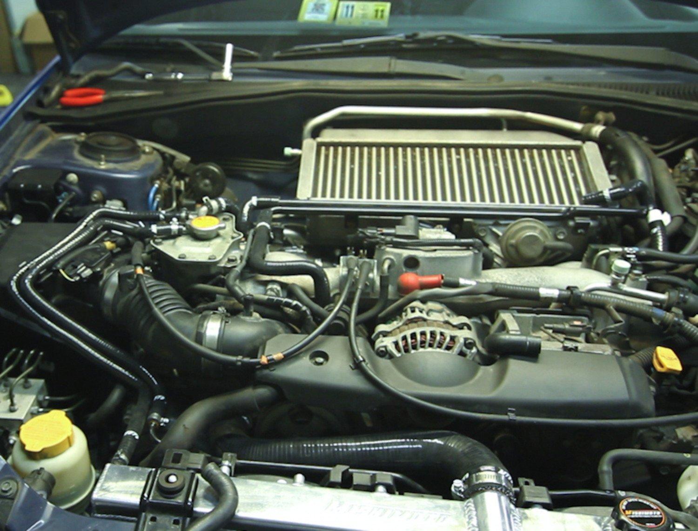 2001-2005 Blue Mishimoto MMHOSE-SUB-ANCBL Subaru Impreza WRX Silicone Ancillary Hoses