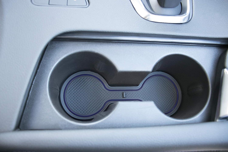 Center Console Liner Accessories 2019 2018 2017 Cadillac XT5 11-pc Set Custom Fit Cup CupHolderHero Dark Blue Trim Door