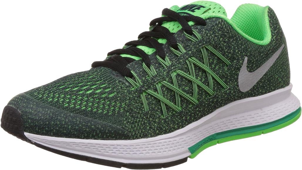 Nike Zoom Pegasus 32 (GS), Zapatillas de Running para Niños, Negro/Plateado (Obsidian/Mtllc Silver-Vltg Grn), 38 EU: Amazon.es: Zapatos y complementos