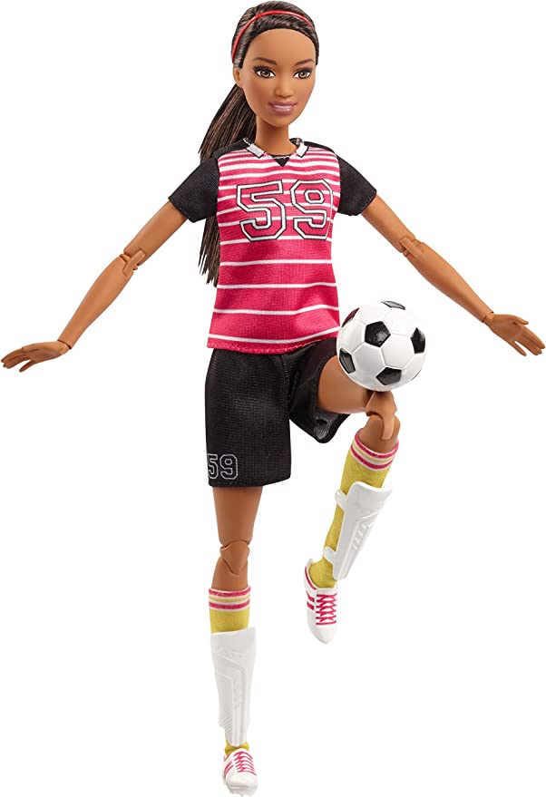 Barbie Made to Move Sportlerin Puppen Fussballerin Puppe AUSWAHL: Mattel
