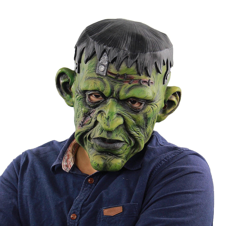 Deluxe Horror Devil Masks Halloween Costume Party Latex Freak Head Mask