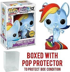Funko My Little Pony Movie POP Rainbow Dash Sea Pony Vinyl Figure CHASE VERSION